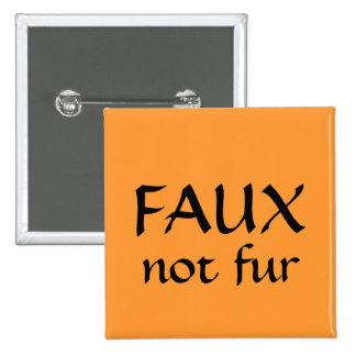 FAUX, not fur 2 Inch Square Button