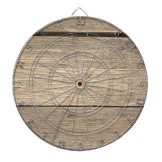 Faux Old Wooden Barrel Dartboard