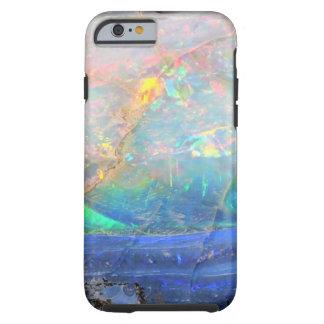 Faux opal gem gemstone mineral bling bokeh hipster tough iPhone 6 case