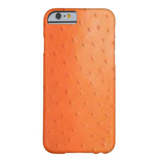 Faux Orange Ostrich Skin Case