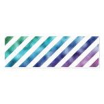 Faux Pastel Green Blue Purple Rainbow White Mini Business Card