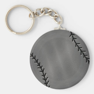 Faux Pewter Baseball keychain