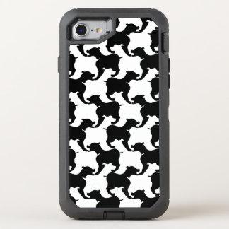 Faux pied-de-poule with Dogs fashion Iphone 1 OtterBox Defender iPhone 7 Case