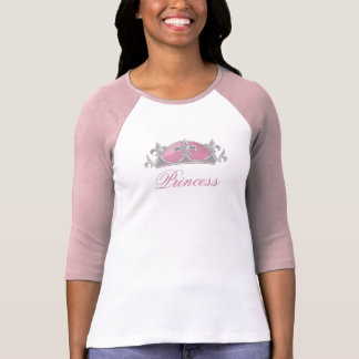 Faux Pink and Silver Crown with Diamonds T-Shirt