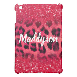 Faux Pink Glitter Leopard Spots For Teen Girls Cover For The iPad Mini