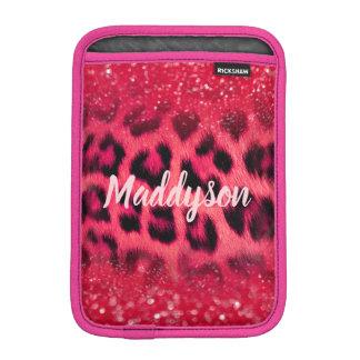 Faux Pink Glitter Leopard Spots For Teen Girls iPad Mini Sleeve