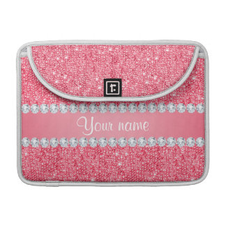 Faux Pink Sequins and Diamonds Sleeves For MacBooks