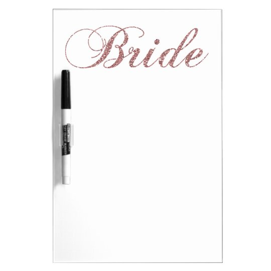 Faux Pink Sparkles Bride Dry-Erase Boards