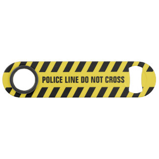 Faux Police Line custom text bottle opener Bar Key