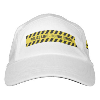 Faux Police Line custom text hat