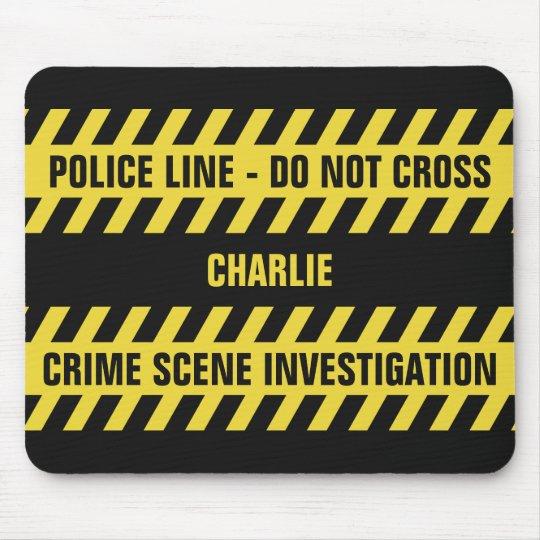Faux Police Line custom text mousepad