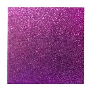 Faux Purple Fuchia Pink Glitter Background Sparkle Ceramic Tiles