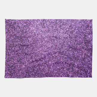 Faux Purple Glitter Kitchen Towel