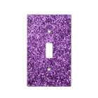 Faux Purple Glitter Light Switch Cover
