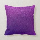 Faux Purple Violet Glitter Background Sparkle Throw Pillow