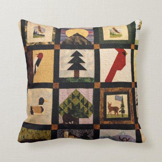 Faux Quilt Design #2 Throw Pillow