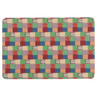 Faux Quilt Floor Mat