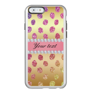 Faux Rainbow Glitter Spots Diamonds Gold Incipio Feather® Shine iPhone 6 Case