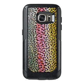 Faux Rainbow Trout Scale Texture Look Pattern OtterBox Samsung Galaxy S7 Case
