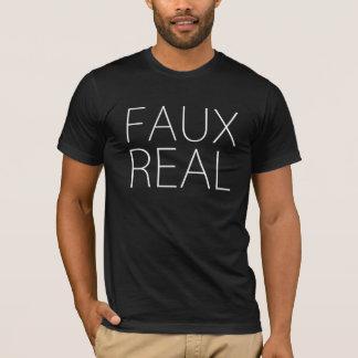 Faux Real - Minimalist T-Shirt
