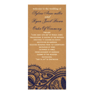 Faux Recycle Paper,  wedding programs tea length Full Color Rack Card
