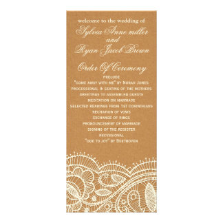 Faux Recycle Paper,  wedding programs tea length Rack Cards