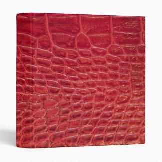 Faux red alligator leather vinyl binder