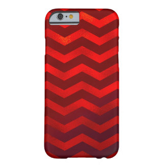 Faux Red Burgundy Foil Texture Chevron Zig Zag Barely There iPhone 6 Case