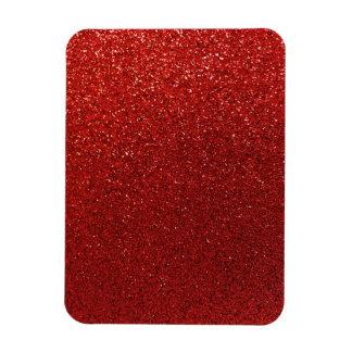Faux Red Burgundy Glitter Background Sparkle Magnet