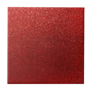 Faux Red Burgundy Glitter Background Sparkle Tiles
