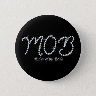Faux Rhinestone MOTB 2 Inch Round Button