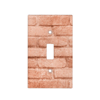 Faux Rose Gold Bricks Light Switch Cover