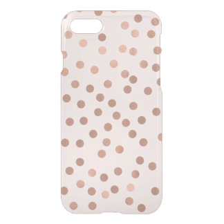 Faux Rose Gold Confetti {choose background color} iPhone 8/7 Case