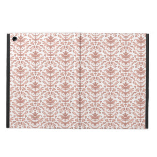 Faux Rose Gold Damask Pattern Cover For iPad Air