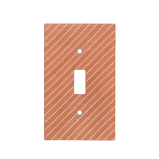 Faux Rose Gold Diagonal Striped Light Switch Cover