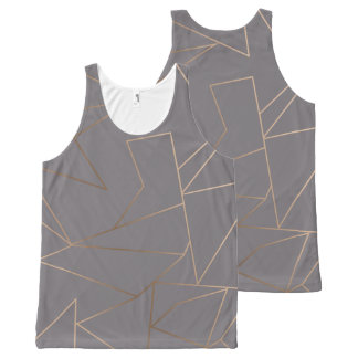 Faux rose gold elegant modern minimalist geometric All-Over-Print tank top