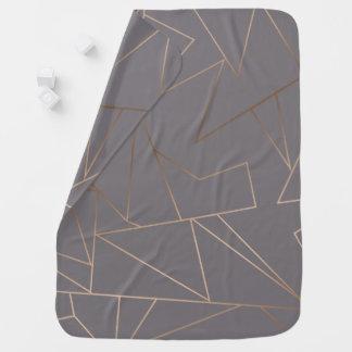 Faux rose gold elegant modern minimalist geometric baby blanket