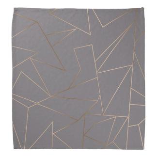 Faux rose gold elegant modern minimalist geometric bandana