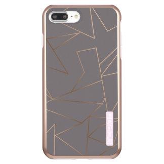 Faux rose gold elegant modern minimalist geometric incipio DualPro shine iPhone 8 plus/7 plus case