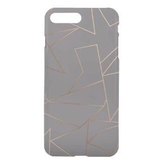 Faux rose gold elegant modern minimalist geometric iPhone 8 plus/7 plus case