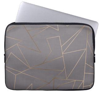 Faux rose gold elegant modern minimalist geometric laptop sleeve