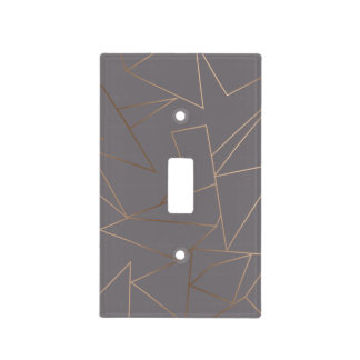 Faux rose gold elegant modern minimalist geometric light switch cover