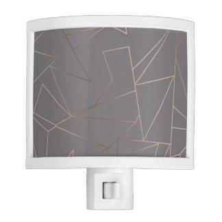 Faux rose gold elegant modern minimalist geometric night lights