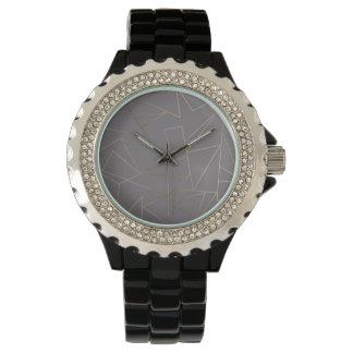 Faux rose gold elegant modern minimalist geometric watch