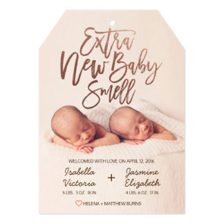Faux Rose Gold Extra New Baby Smell Card