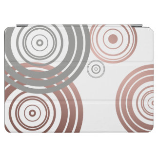 faux rose gold foil grey geometric circles pattern iPad air cover