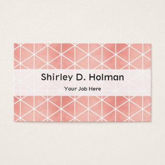 Faux Rose Gold Foil Traingle Pattern Business Card