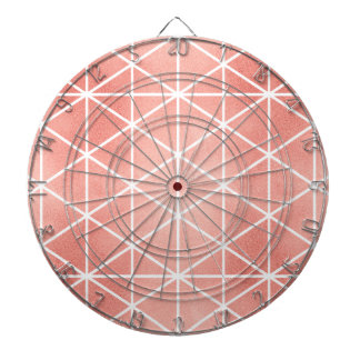 Faux Rose Gold Foil Traingle Pattern Dartboard