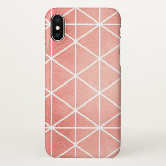 Faux Rose Gold Foil Traingle Pattern iPhone X Case