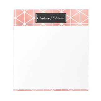 Faux Rose Gold Foil Traingle Pattern Notepad